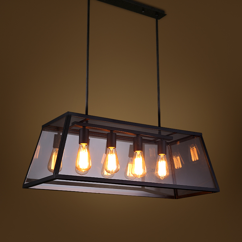 Rh metal glass box shape edison bulbs pendant lighting modern rh metal glass box shape edison bulbs pendant lighting modern filament chandelier aloadofball Images