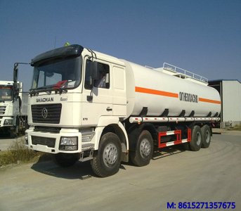 SHACMAN 8x4 F2000 Crude oil FUEL TANKER TRUCK