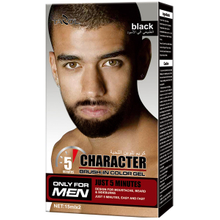 Character Brush in Men's Beard Color Black