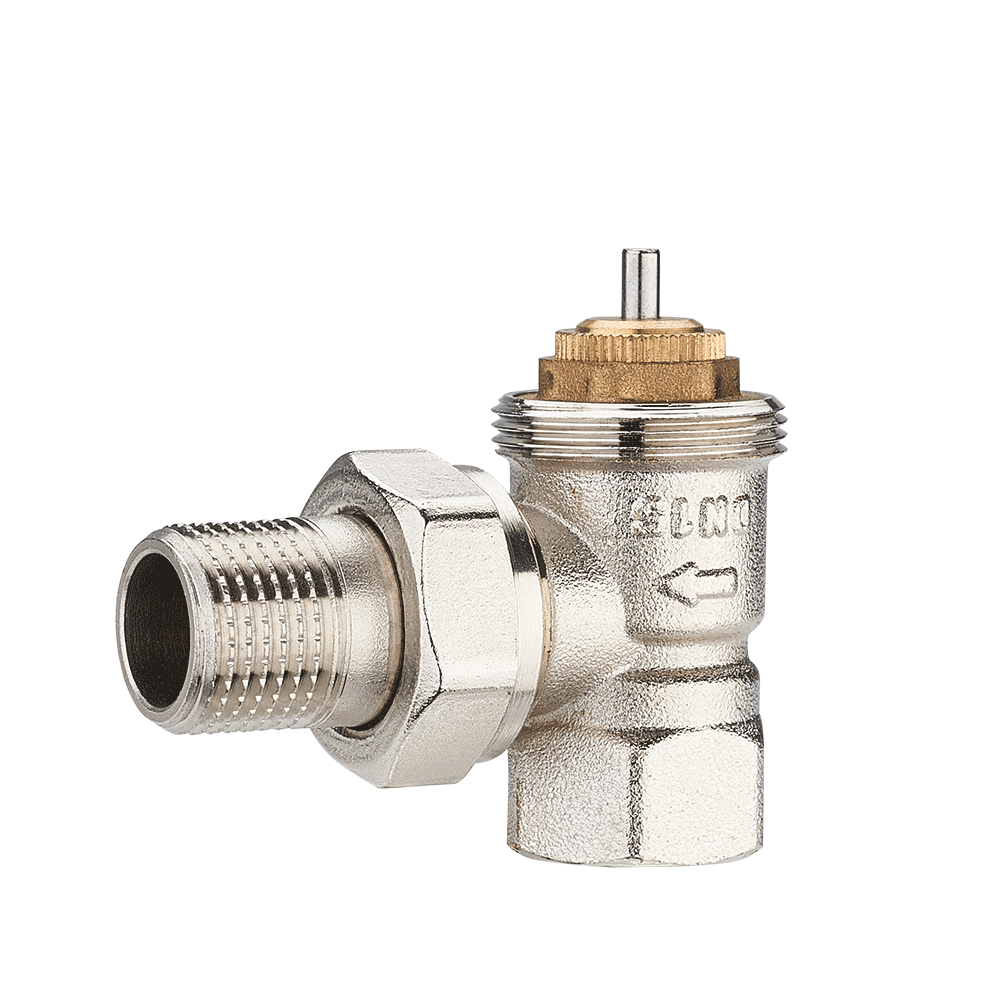 DN15 Pressure Brass Angle Aluminum Plastic Pipe Backwater Valves Thermostatic Radiator Valve