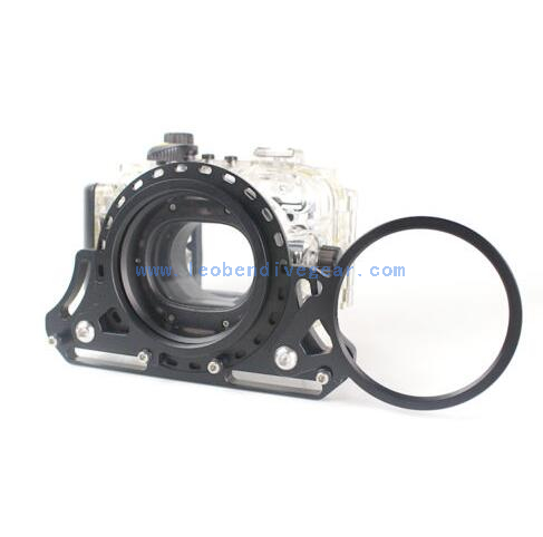 Underwater Double M67 Swing Flip Diopter Adapter for M67 Macro Port.