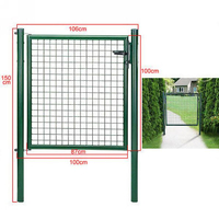 100 x 100cm Powder Coated Welded Wire Walkway Door Garden Gate