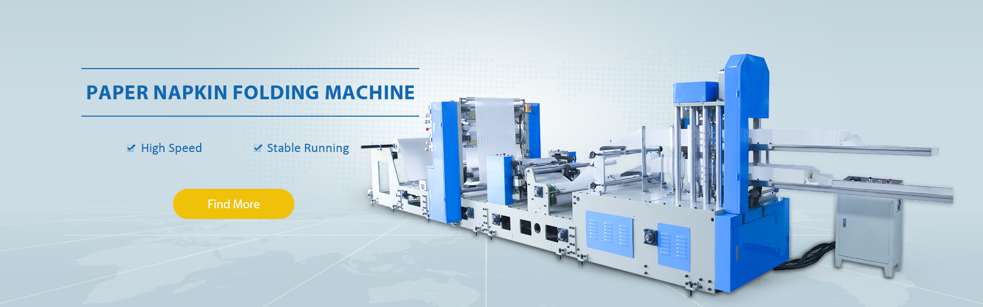 tissue paper making machine, toilet paper machine, napkin tissue