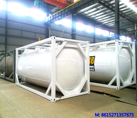 DTA iso tank container for cement / coal ash pneumatic ash fly container