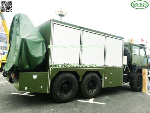 SHACMAN -Steyr SX2190 Military truck 6x6 Rescue vehicle with HIRB crane