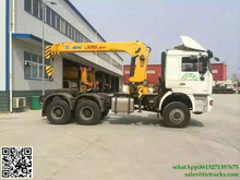 Custermizing SHACMAN tractor truck crane 10Tons telescopic boom