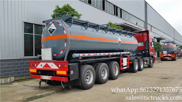 H2SO4 acid tank trailer 170000L-20000L Sulfuric acid round dishhead truck trailer