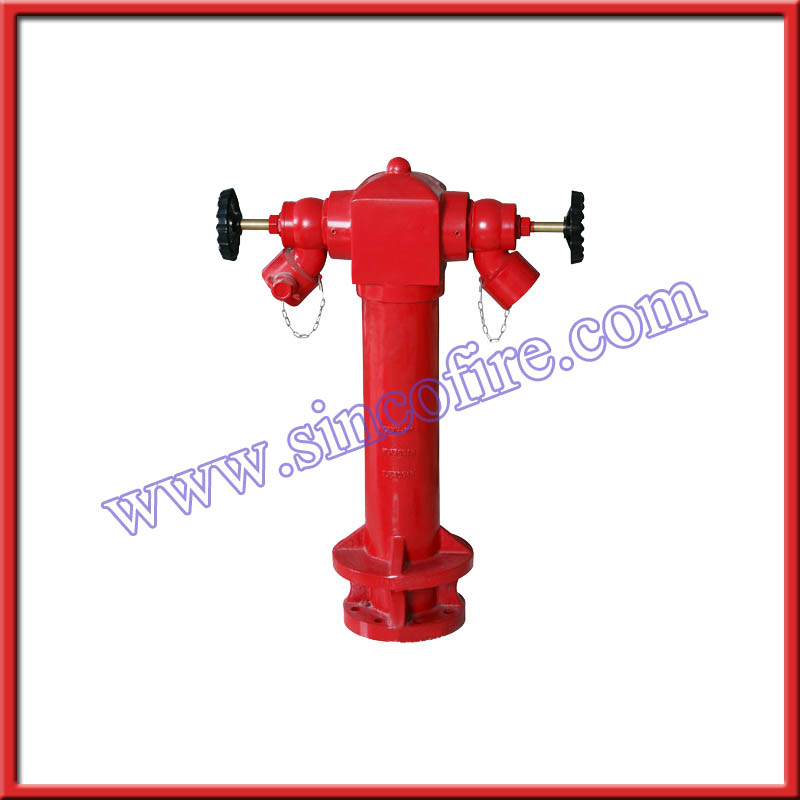2 way 4 inch BS standard pillar fire hydrant prices with valve