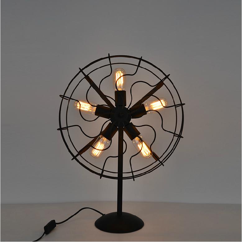 Cool industrial retro style fan shape bedside table lamp from cool industrial retro style fan shape bedside table lamp aloadofball Image collections