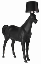 E27 made in china modern black horse shape reception floor lamp for hotel