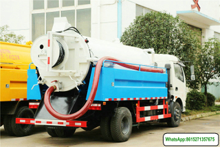 cleaning-vacuum truck pressure water clean truck 5.25+1.5m3
