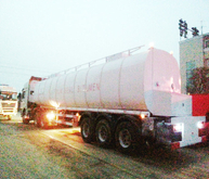SHACMAN Tractor Insulated bitumen tanker trailer semitrailer 50cbm with two Burner heater