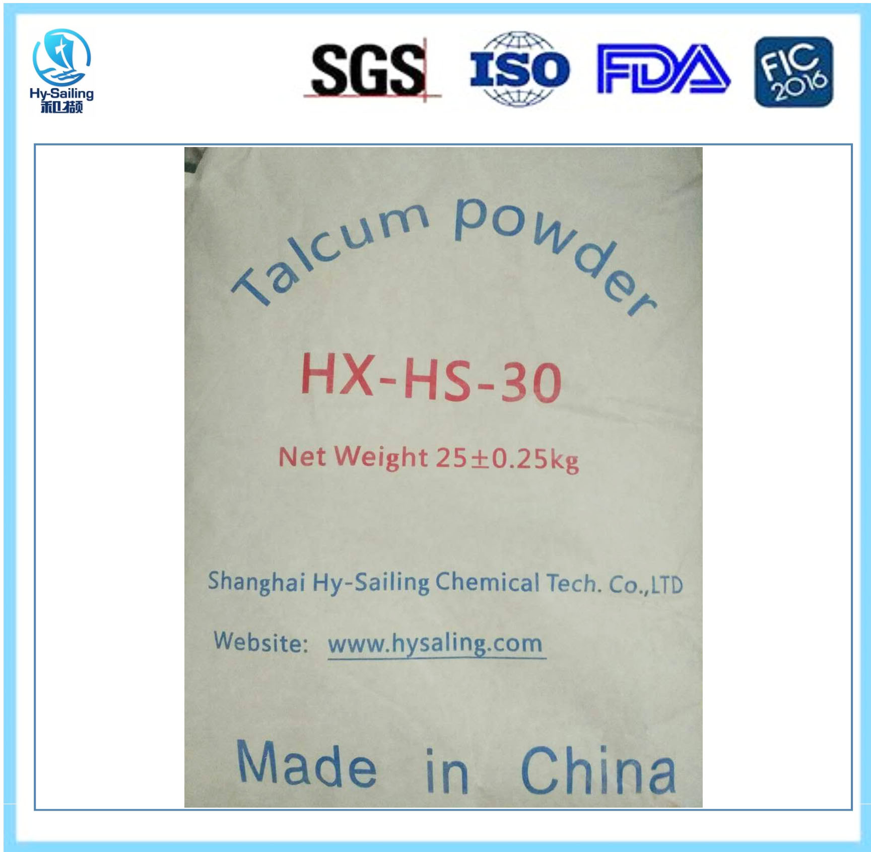 Talcum Powder--Cosmetics Grade