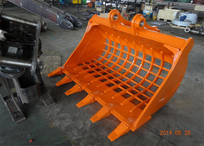 Hitachi ZX200 wide grating bucket with teeth