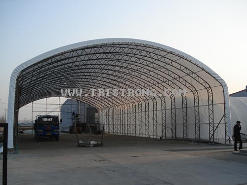 Large Trussed Frame Shelter, Temporary Workshop, Industrial Warehouse (TSU-49115)