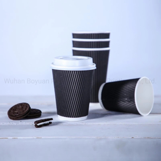 Disposable Corrugated Paper Cup for Coffee Tea Hot Beverage