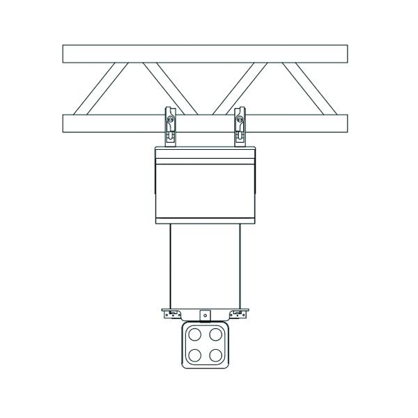 雙出線燈具升降控制箱