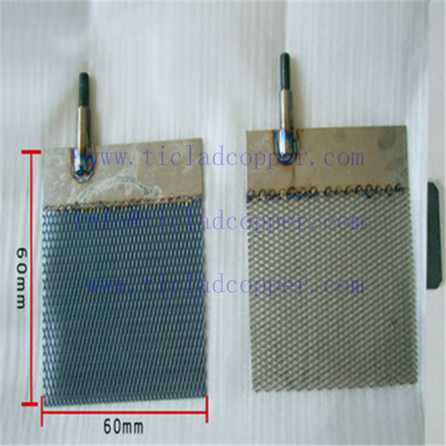DSA Titanium Anode for copper, silver and gold electroplating