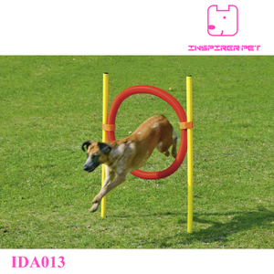 Pet Dog Agility Tire Jump Hoop Leap Plastic Tube