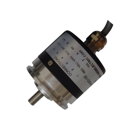 ISN4406 Solid shaft diameter 6mm; outside diameter 44 mm Solid Shaft Incremental Rotary Encoder