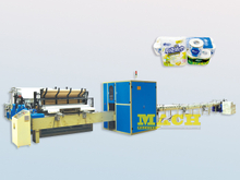 High Spped Toilet Tissue Paper & Kitchen Towel Processing Machine / Production Line