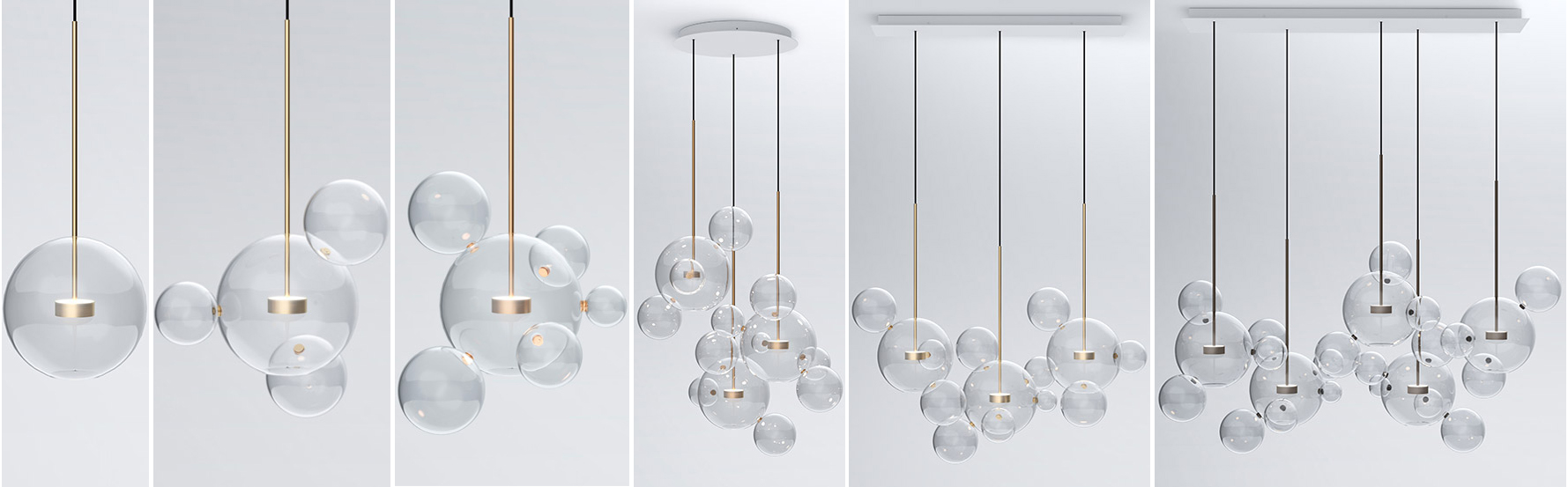 Designer glass chandelier collections