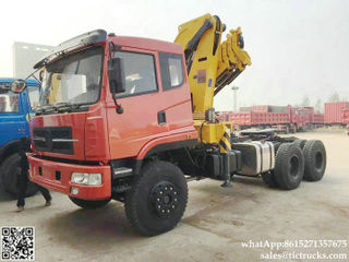 DRZ tractor truck mounted crane 10Tons knuckle boom