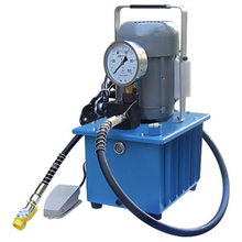 Electric oil pumps with foot valve