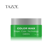Tazol Temporary Hair Color Wax with Green Color 100g