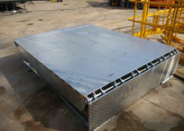 Hot dip galvanized dock leveler