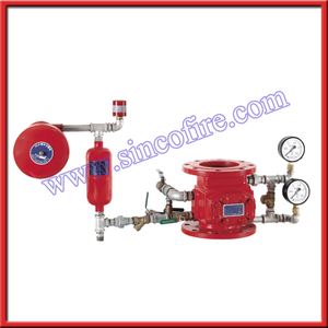 Wet alarm check valve
