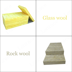Difference between glass wool and rock wool for Mineral wool density