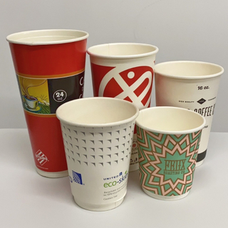 Eco-friendly Disposable Biodegradable PLA Double Wall Paper Cup
