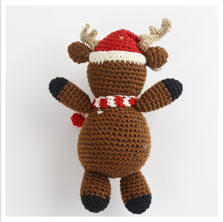 Hand Knitted Christmas deer