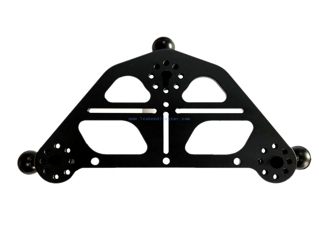Leoben Underwater Camera Housing Tripod Tray for macro videography
