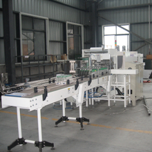 Automatic Linear Type Film Shrink Wrapping Machine With Half Tray