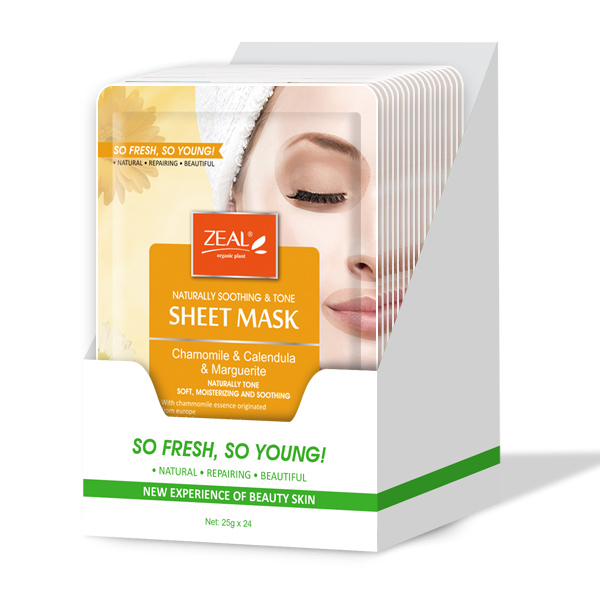 Zeal Naturally Soothing & Tone Sheet Mask