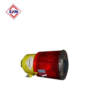 Solar warning lamp for tower crane