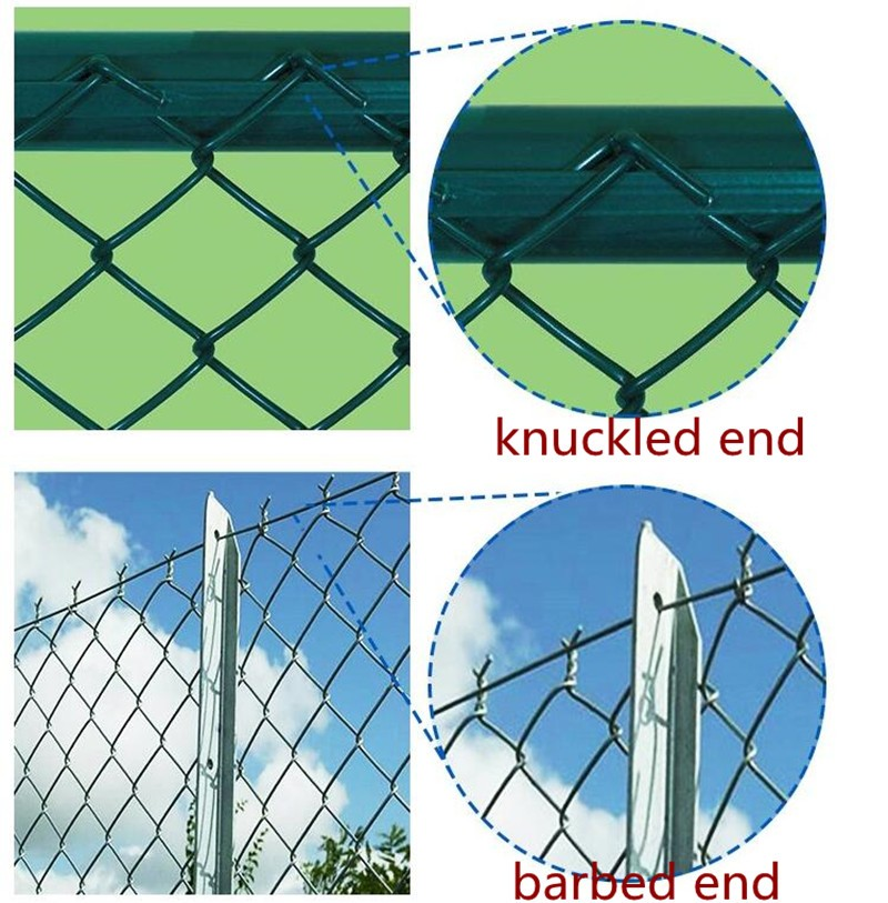 Chain link fence edge type