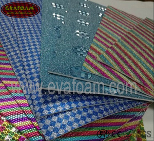 Glitter Film EVA Foam Sheets (Rainbow)