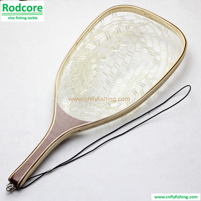 landing net with clear rubbert netting
