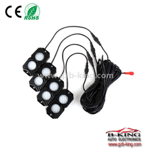 Mobilephone APP bluetooth contral RGB LED Rock Lights 4 pods kits for Jeep Truck ATV SUV Car Boat