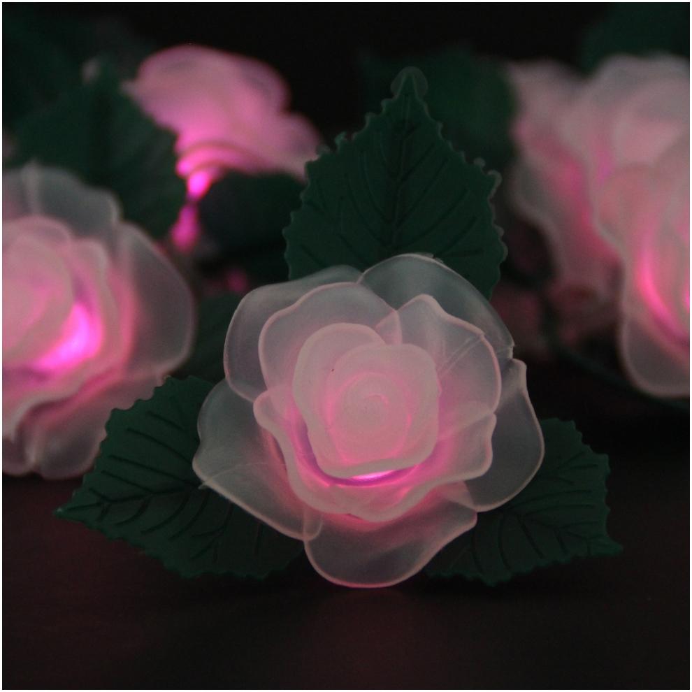 Rose and leaves String Light LED Lights LED Battery Light Christmas Holiday Decoration