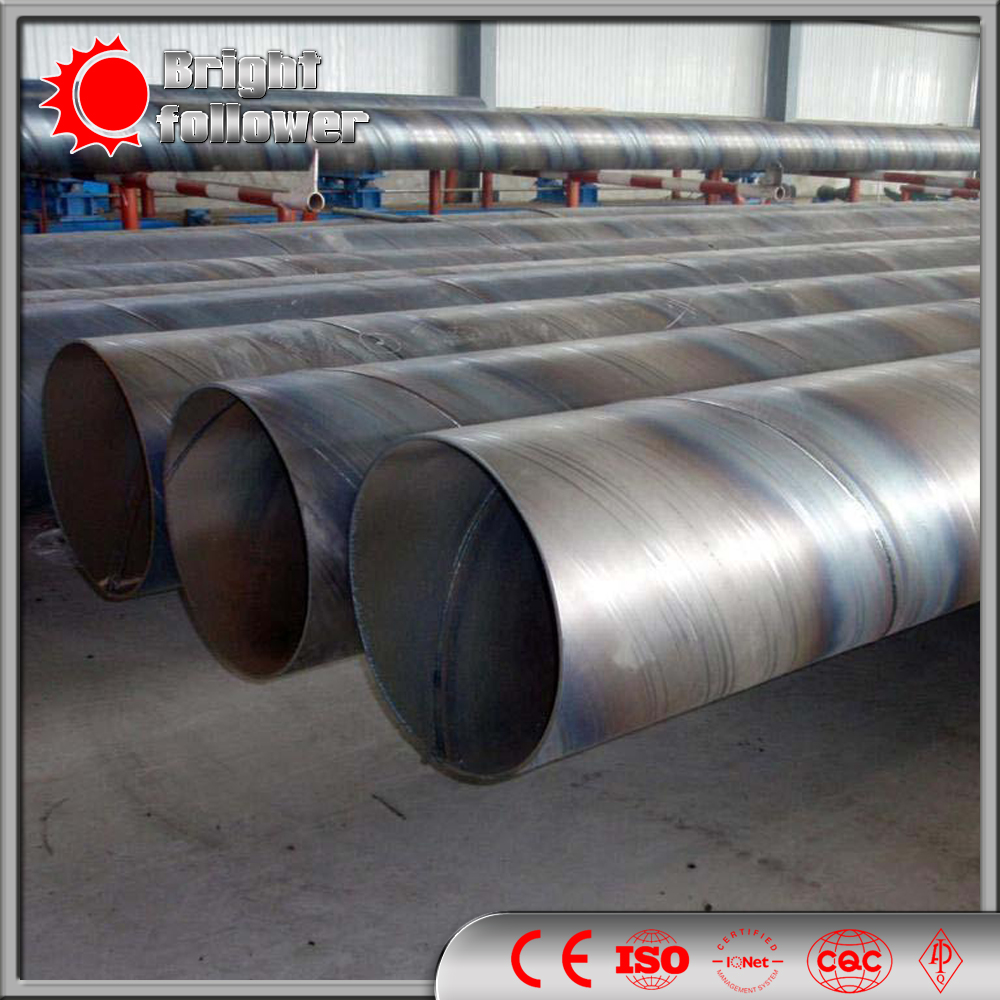 Welded Steel Pipes : Carbon spiral weld steel pipe buy product on bright