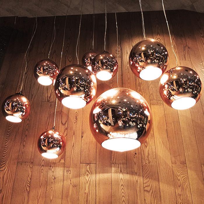 Tom Dixon Copper Ball Pendant Lamp  4026101  (5)