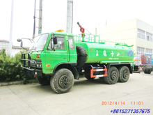 Dongfeng 6x6 Water Tanker Truck with Fire Pump
