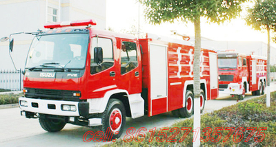 ISUZU Fire water tanker foam Truck  FVZ34Q EUR 4
