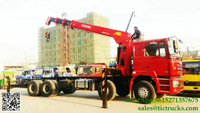 DRZ 8x4 SHACMAN lorry truck mounted crane 12T Palfinger SPS30000 telescopic boom