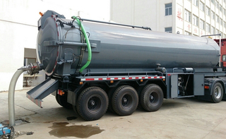 vacuum suction trailer
