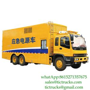 ISUZU 100kw-1000kw 6X4 power generator truck